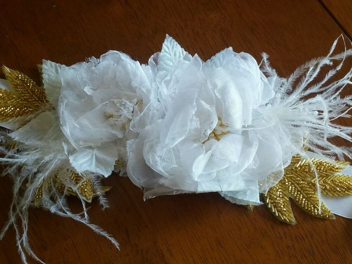 Tmx 1497112783409 White And Gold Bridal Sash Exton, PA wedding favor