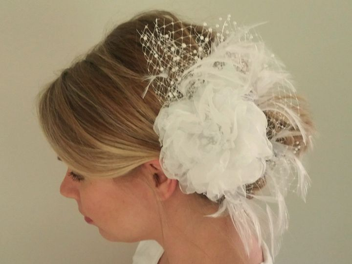Tmx 1499092266606 White Organza Flower Hairclip.jpg Exton, PA wedding favor