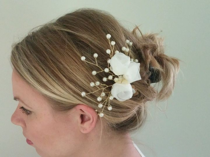 Tmx 1499092625163 Hair Sticks With Organza Flowers Exton, PA wedding favor