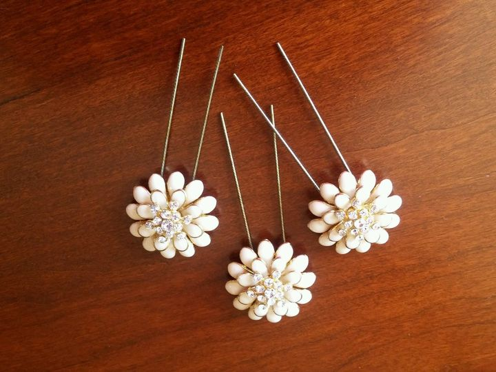 Tmx 1499092783479 Ivory And Gold Bead Hair Pins Exton, PA wedding favor