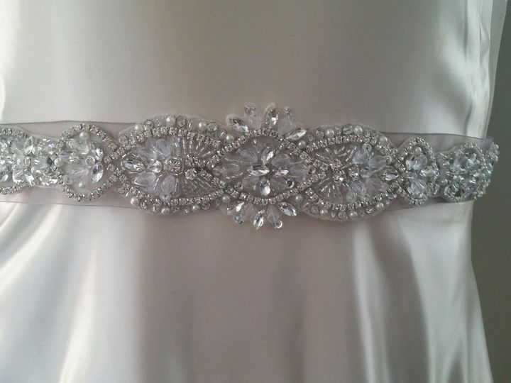 Tmx 1500225268437 Rhinstone Organza Bridal Sash Exton, PA wedding favor