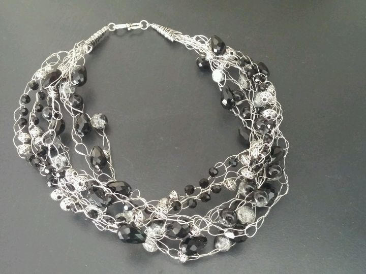Tmx 1500225418866 Black And Silver Crocheted Necklance Black Backgro Exton, PA wedding favor