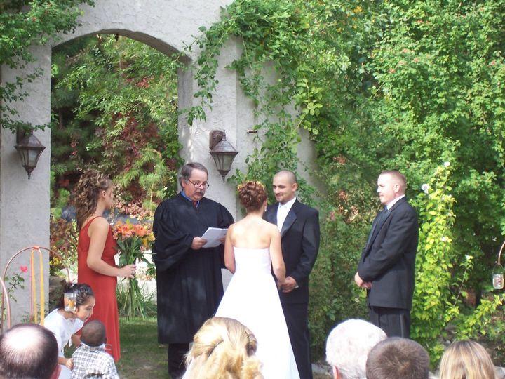 Wedding ceremony in October