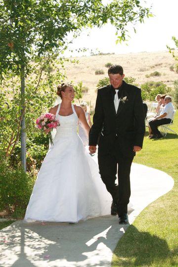 Bride and grooom