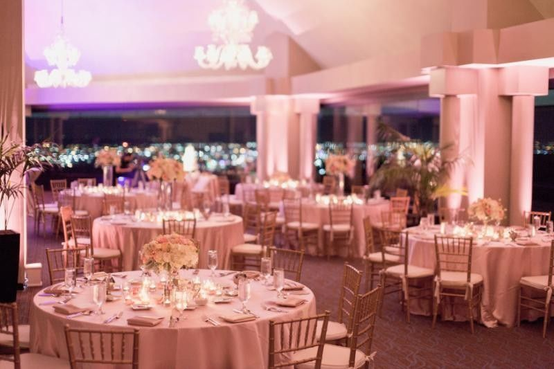 Skyline room set in blush and gold