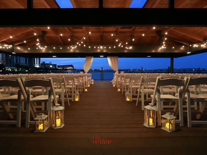 Tmx 1490399890087 Outdoor Ceremony Cafe Lights Facing Water Irving, TX wedding venue