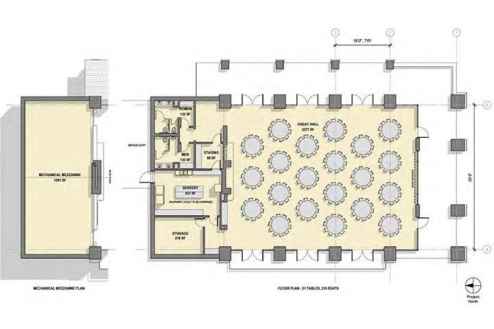 Floor plan of the Seely Pavilion coming Fall 2017
