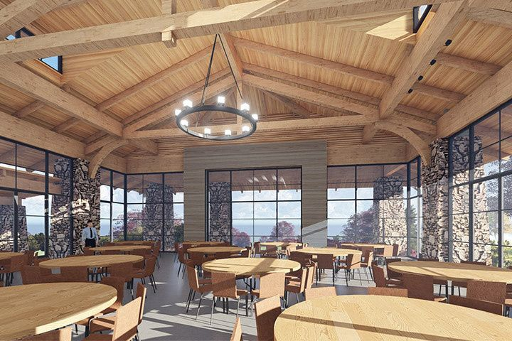 Indoor rendering of the Seely Pavilion coming Fall 2017