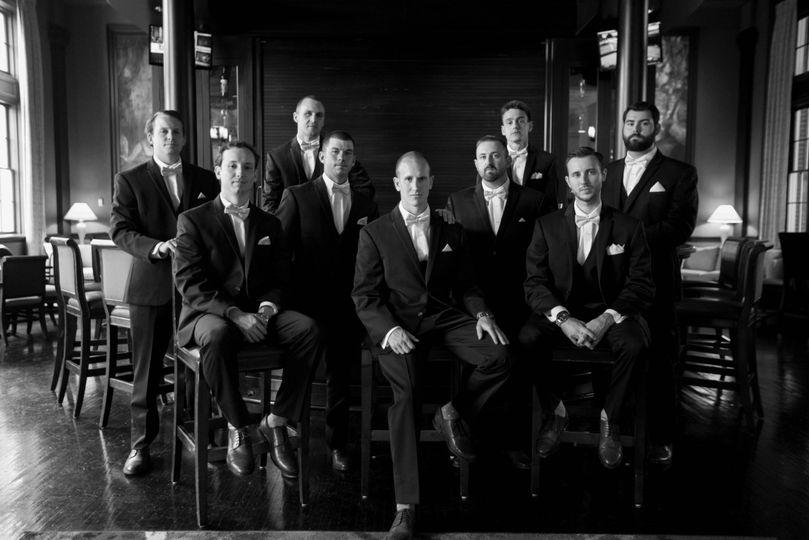 george washington hotel winchester virginia bride groom wedding portraits groomsmen half note bar julie napear photography 51 23772