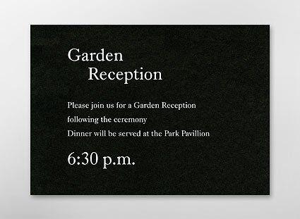Tmx 1255782057380 BlackReceptionCard Cumberland wedding invitation