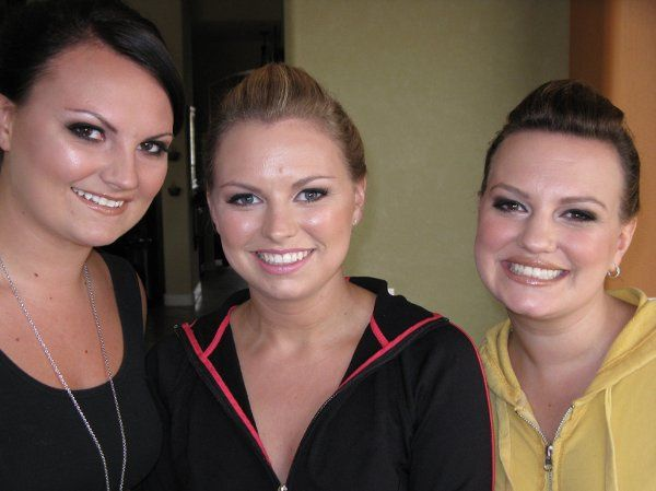 Abbie and her bridesmaids!  I did their makeup too. Abbie is the middle. This is the after picture.