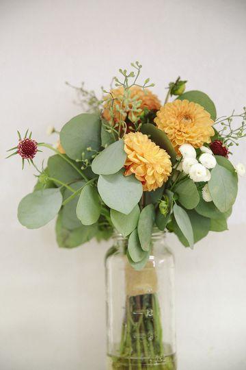A leafy bouquet