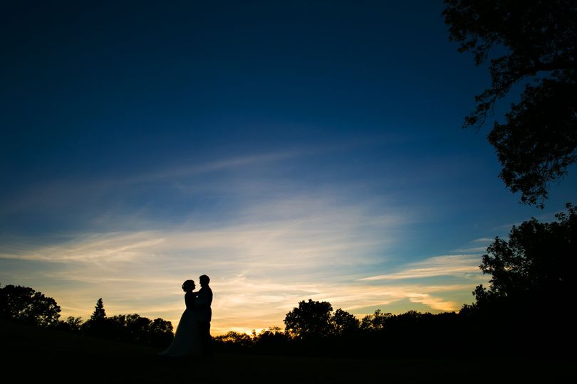 Sunset Bride & Groom Photos