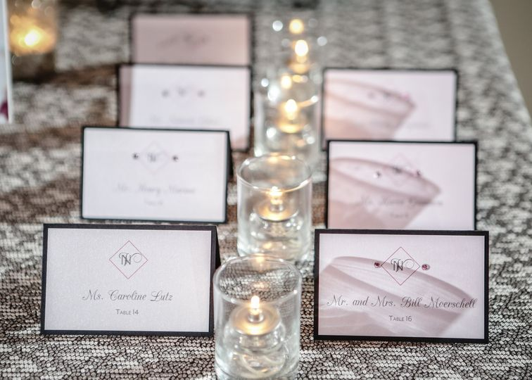 Escort cards with bling