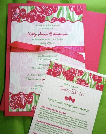 Kelly's Lilly Pulitzer-inspired Baby Shower Invitations
