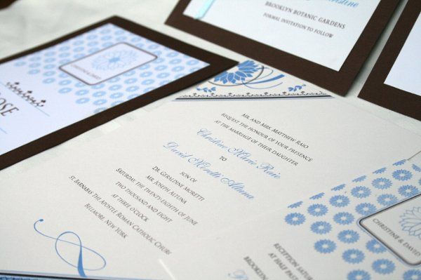 Custom-designed Wedding Invitation and the full realm of related paper products.