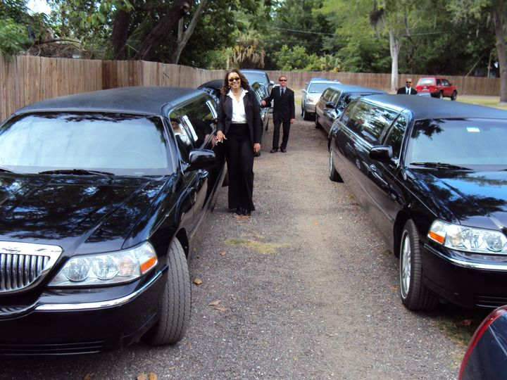 Tmx 1429540395747 Limo Lineup W Drivers Saint Petersburg wedding transportation