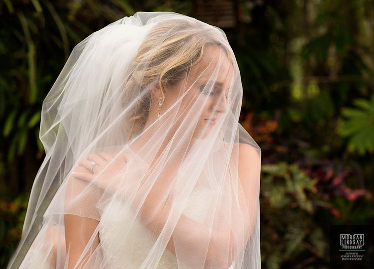 bridal portrait veil creative