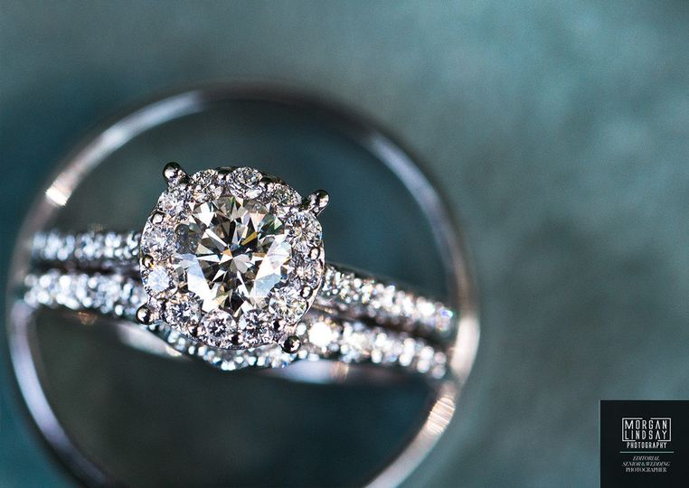 gorgeous engagement halo diamond ring shot 1271x90