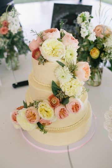 Floral Cascade Cake