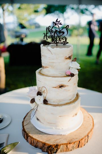 3-tier Birch Tree Cake