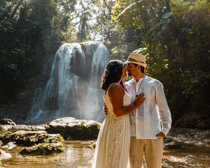 Waterfall wedding