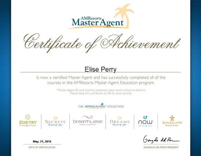 certificate eliseperry