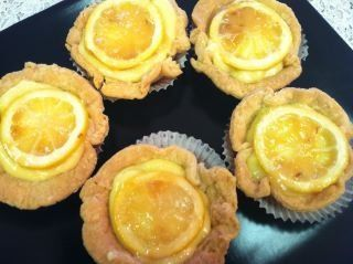 Gorgeous Lemon Custard Petite Pies with Candied Lemon Slices