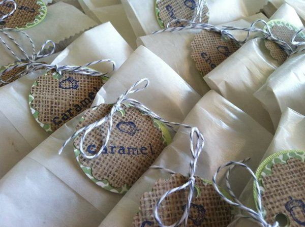 Hand Pies in their Wedding Finery . . . ready for guests to grab and go!