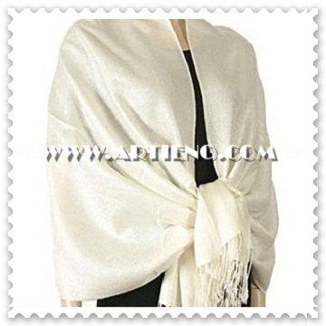 This is a stunning trendy soft Jacquard Paisley Ivory Pashmina Shawl. You can buy it for yourself or...