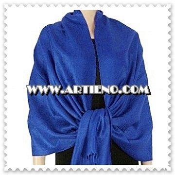 This is a stunning trendy soft Jacquard Paisley deep Royal Blue Pashmina Shawl. You can buy it for...