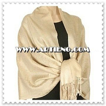 Beige Pashmina Shawl/Scarf. Perfect for Bride, Bridesmaids Gifts, Mother of the Bride, Mother of the...
