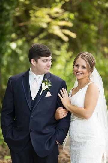 Looking at his bride