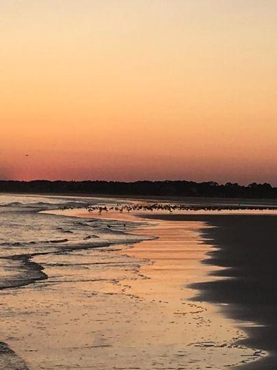 Kiawah island beach, sc sunset