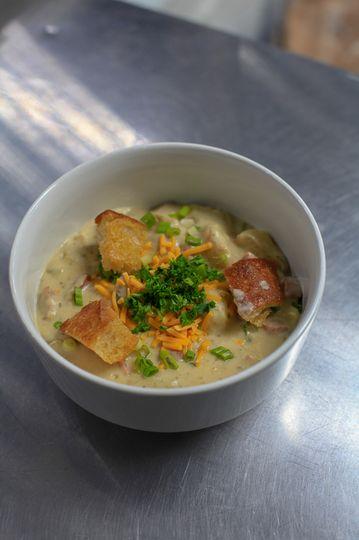 Ham & Bean Soup w/ Toppings