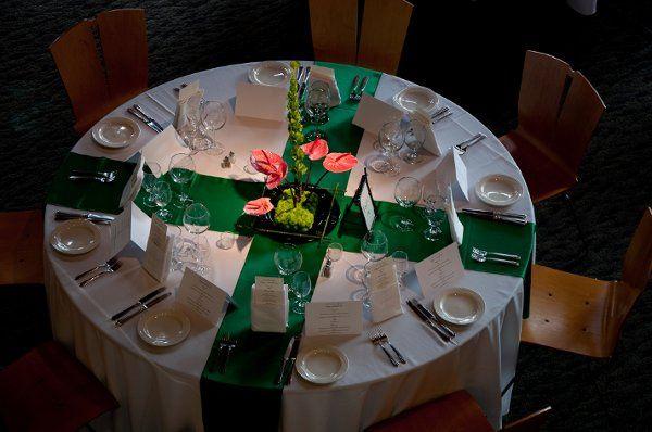 Neat and modern table setup