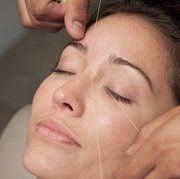 Threading - a gentle form of hair removal