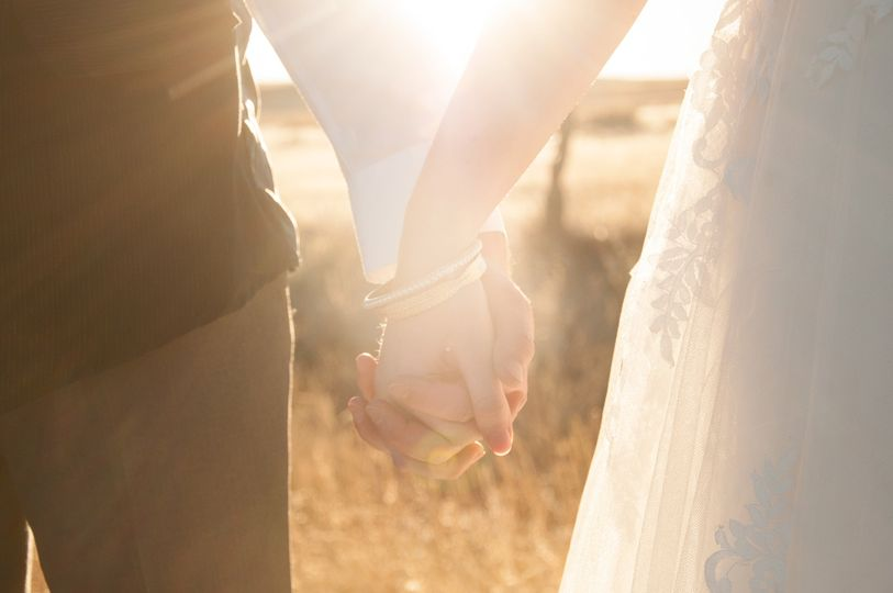 Golden hour elopement