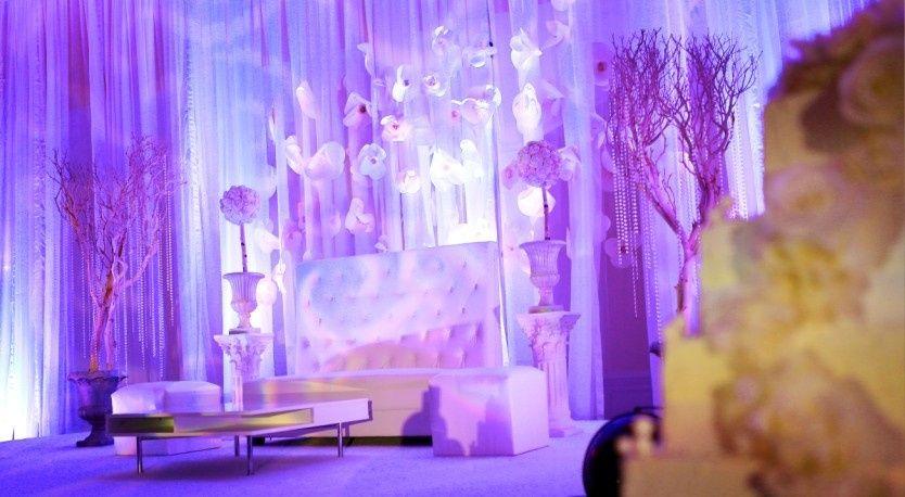enchanted stage flower backdrop cake manzanita tre