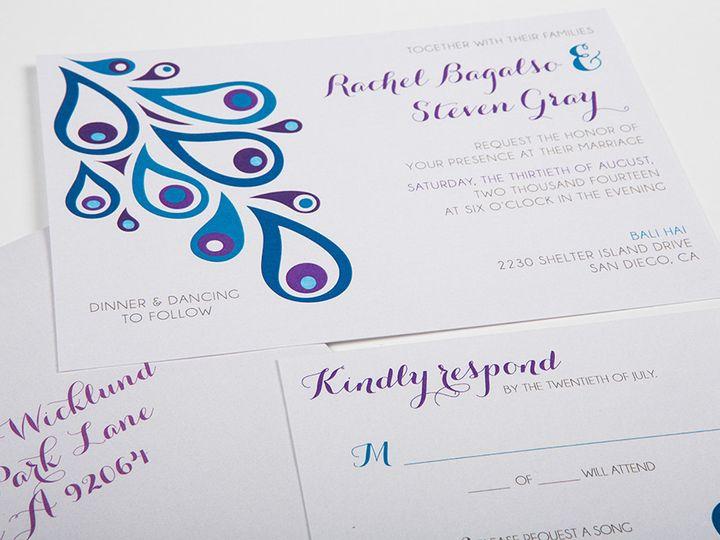 Tmx 1422682866828 Gray Invitessecondimage Poway wedding invitation