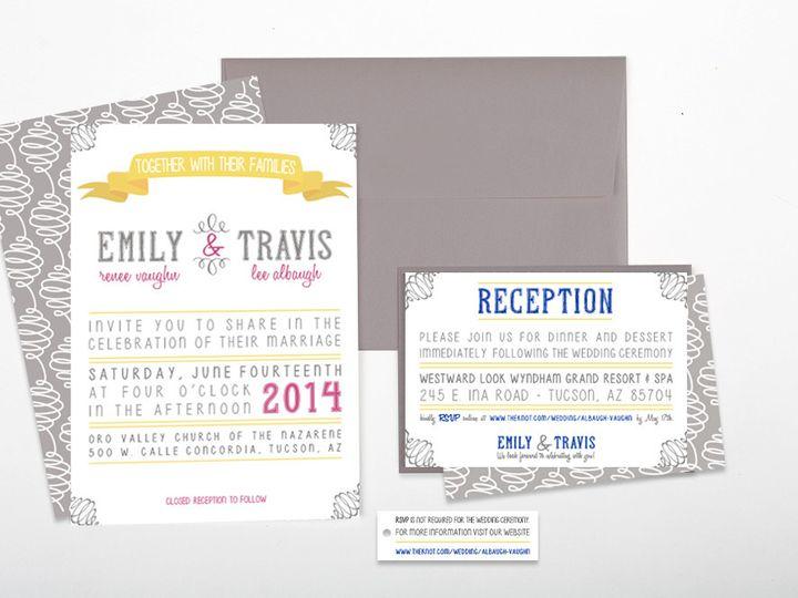 Tmx 1422683560988 Albough Invitesmainimage Poway wedding invitation