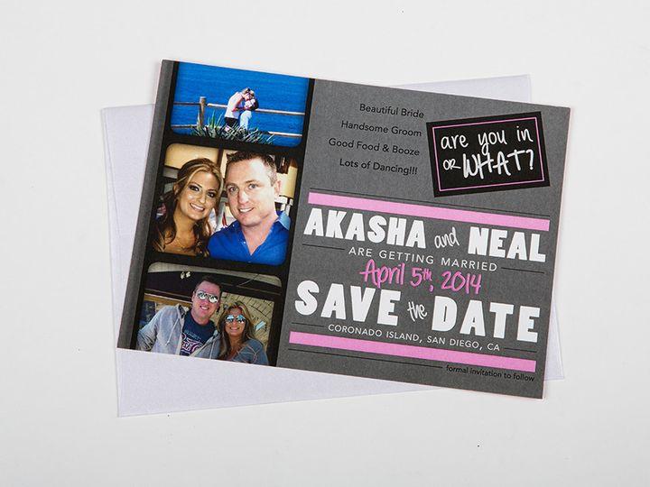 Tmx 1446743459280 Dolan Savethedatesmainimage Poway wedding invitation