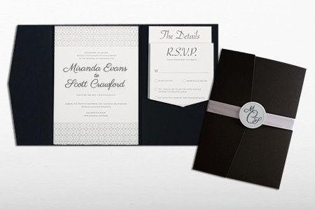 Tmx 1446743876786 Black Tie Affairinvitationset Poway wedding invitation