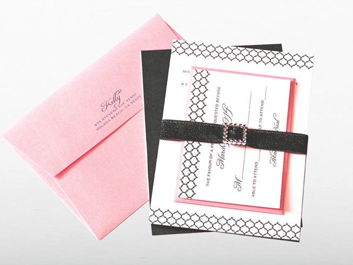 Tmx 1446743897067 Pretty In Pink Poway wedding invitation