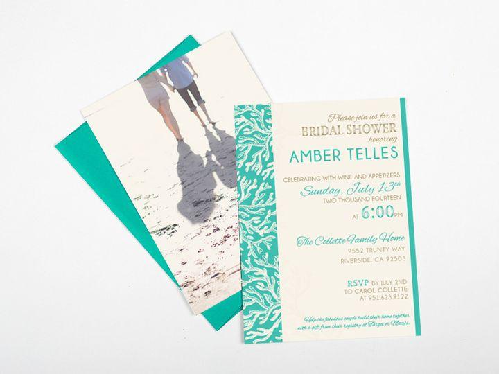 Tmx 1446746809844 Colettebridalshowermainimage Poway wedding invitation