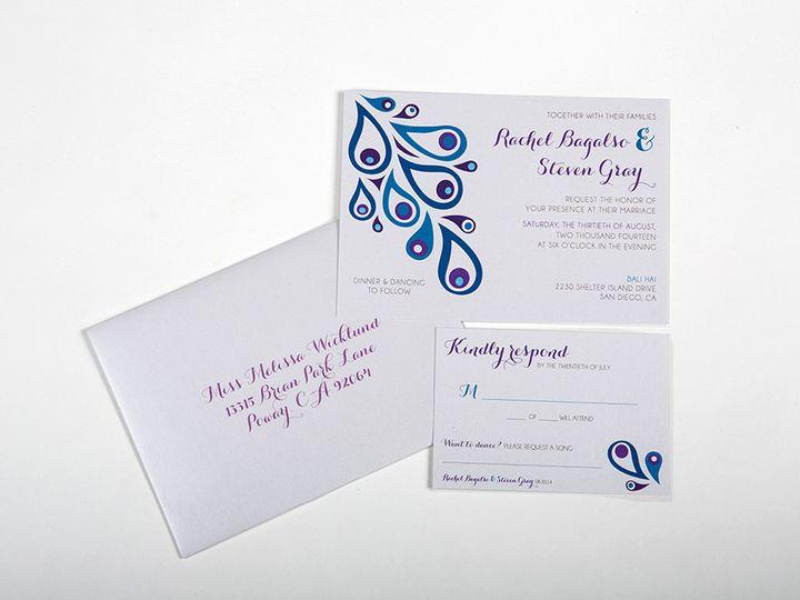 Tmx 1446746927975 Gray Invitesmainimage Poway wedding invitation