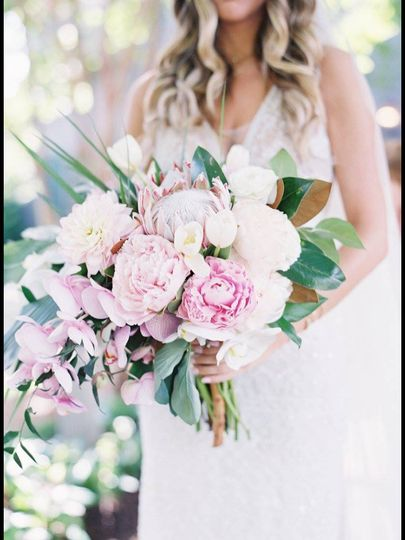 Boho glam with peonies orchids tulips and dahlias at Ballantyne Resort