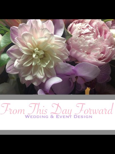 Dahlias peonies and orchids
