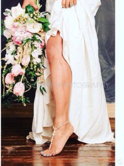 Boho glam bouquet featured in Carolina Bride magazine