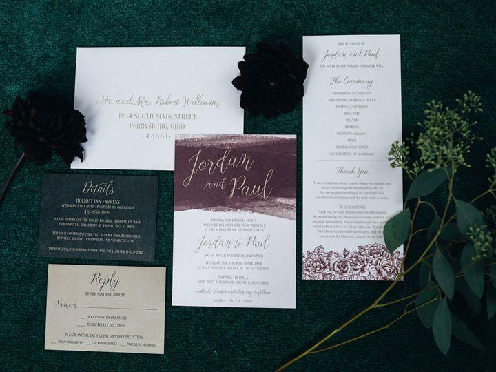 Tmx 1512740410310 Jordan Paul Wedding 2 Toledo wedding invitation